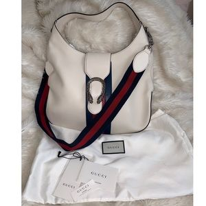 Gucci Bags - Gucci Dionysus white leather hobo bag